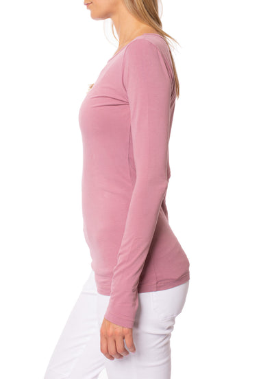 Hard Tail Forever - Supima/Lycra Long Sleeve Scoop Tee  (SL-69-911, Dust) alt view 1
