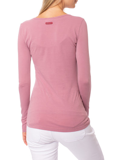 Hard Tail Forever - Supima/Lycra Long Sleeve Scoop Tee  (SL-69-911, Dust) alt view 2