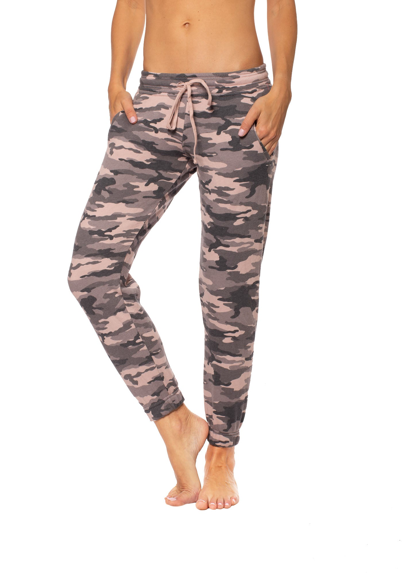 Hard Tail Forever - Slouchy Drawstring Jogger w/Pockets (CAMF-05, Rose Camo)