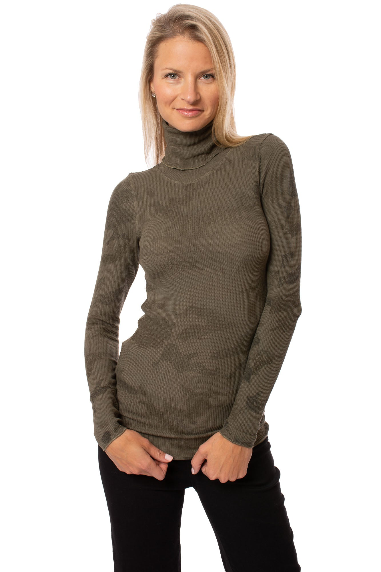 Hard Tail Forever - Thermal Long Sleeve Turtle (TH-35, Thermal Olive Camo)