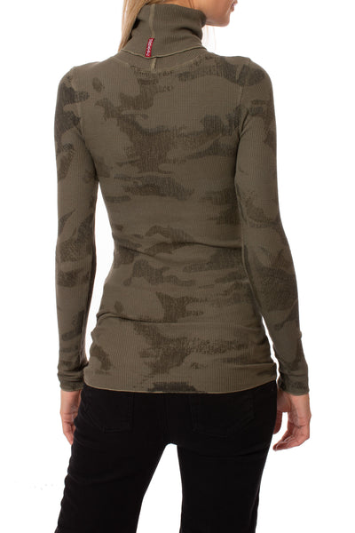 Hard Tail Forever - Thermal Long Sleeve Turtle (TH-35, Thermal Olive Camo) alt view 2