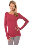 Hard Tail Forever - Long Sleeve Thumbhole w/Rose Gold Star (SL-143, Dragon Fruit)