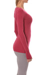 Hard Tail Forever - Long Sleeve Thumbhole w/Rose Gold Star (SL-143, Dragon Fruit) alt view 1