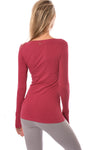 Hard Tail Forever - Long Sleeve Thumbhole w/Rose Gold Star (SL-143, Dragon Fruit) alt view 2