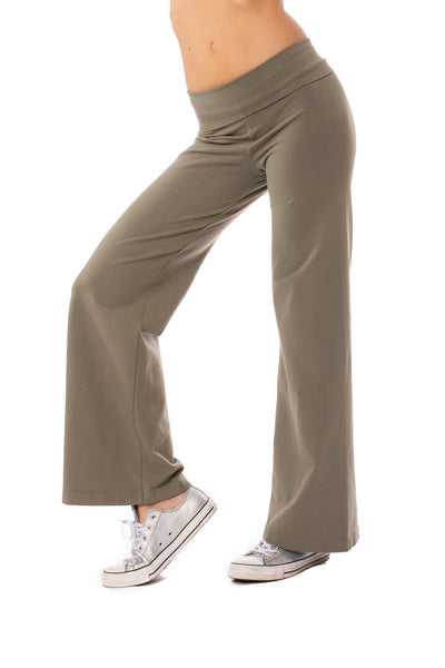 Hard Tail Forever - Wide Leg Roll Down Pants (W-326, Gravel)
