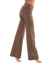Wide Leg Roll Down Pants (Style W-326, Truffle) by Hard Tail Forever alt view 1