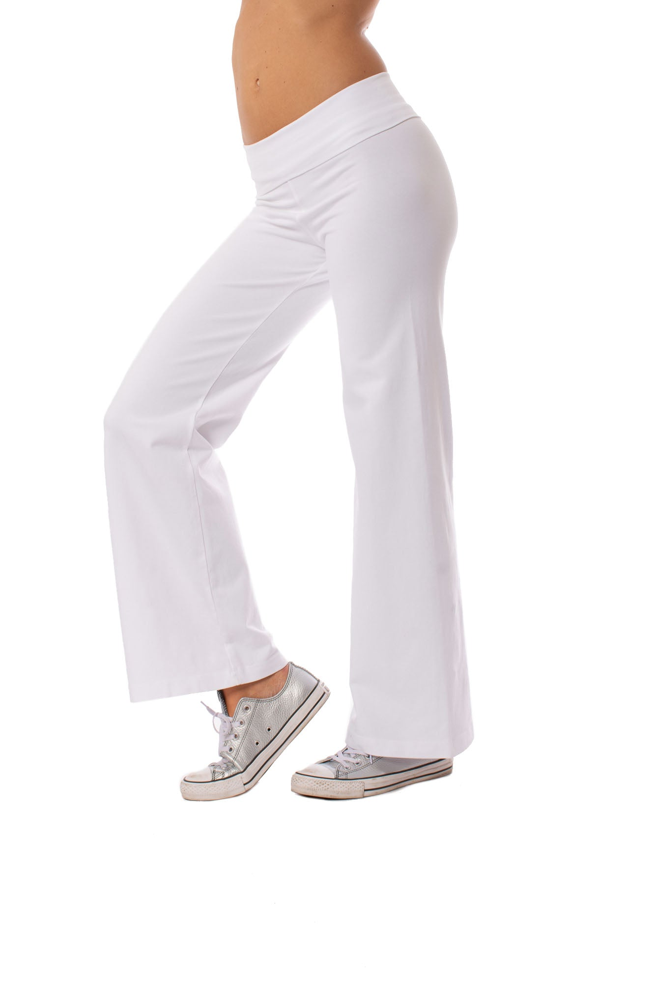 Hard Tail Forever - Wide Leg Roll Down Pants (W-326, White)