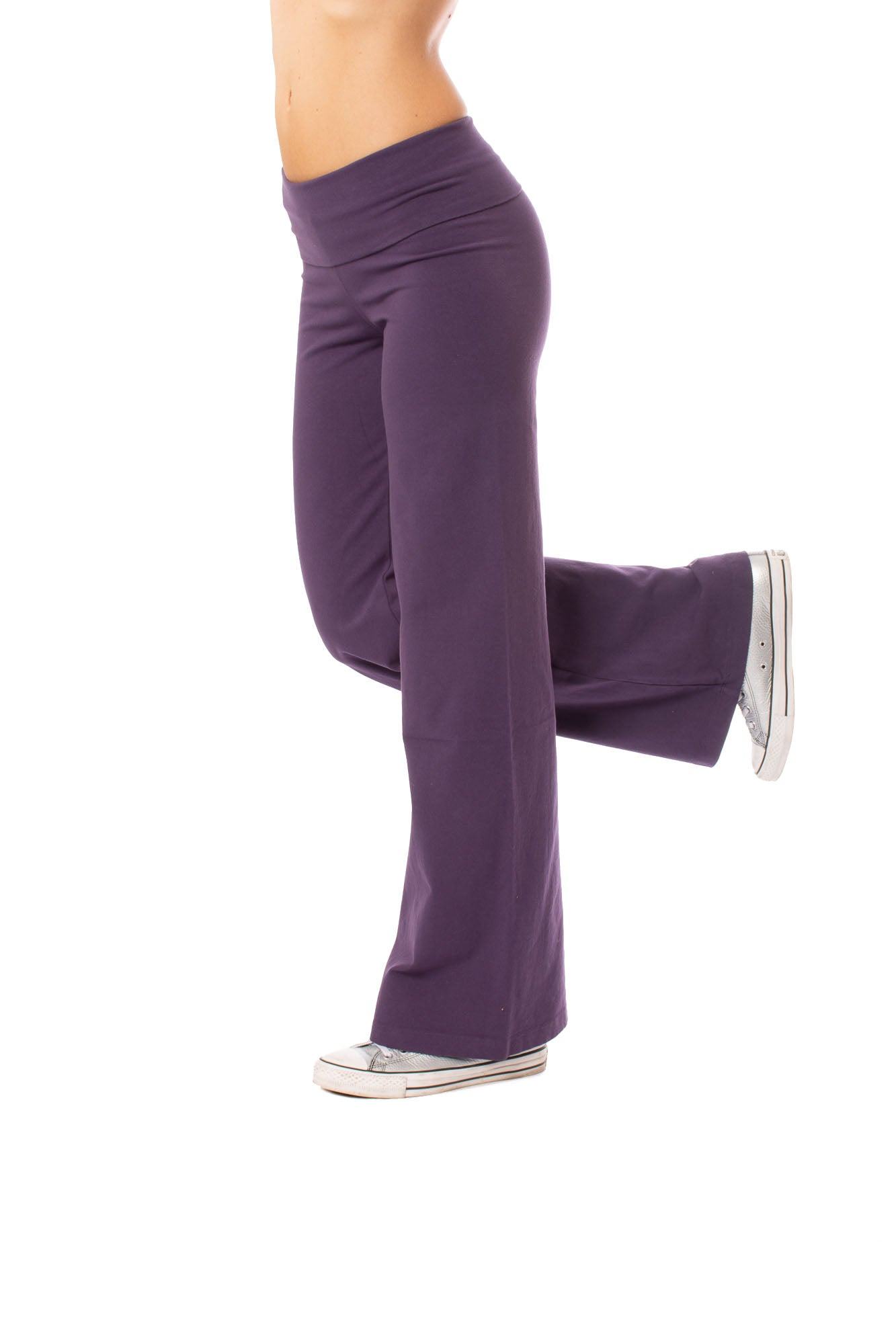 Hard Tail Forever - Wide Leg Roll Down Pants (W-326, Deep Purple)