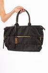 Suki + Solaine - Jet Bag W/Additional Cross Body Strap. (11633SS, Black)