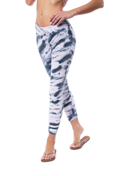Hard Tail Forever - Roll Down Layered Legging (588, Tie-Dye DSW1)