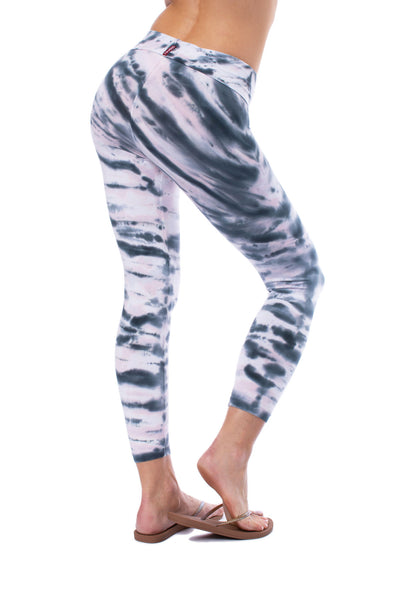 Hard Tail Forever - Roll Down Layered Legging (588, Tie-Dye DSW1) alt view 2