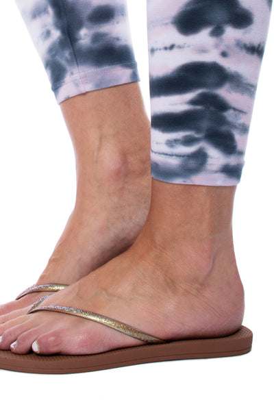 Hard Tail Forever - Roll Down Layered Legging (588, Tie-Dye DSW1) alt view 5