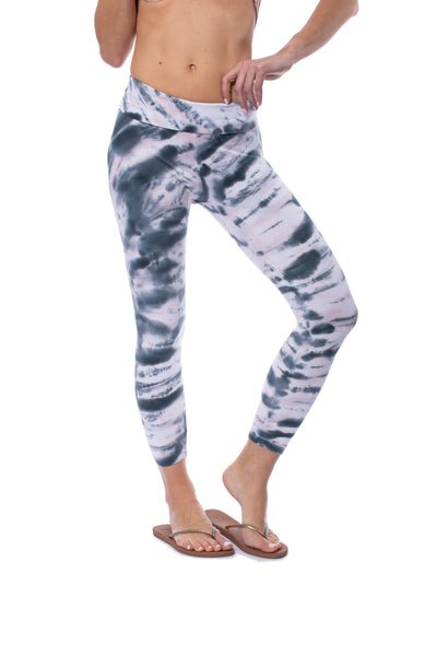 Hard Tail Forever - Roll Down Layered Legging (588, Tie-Dye DSW1) alt view 6
