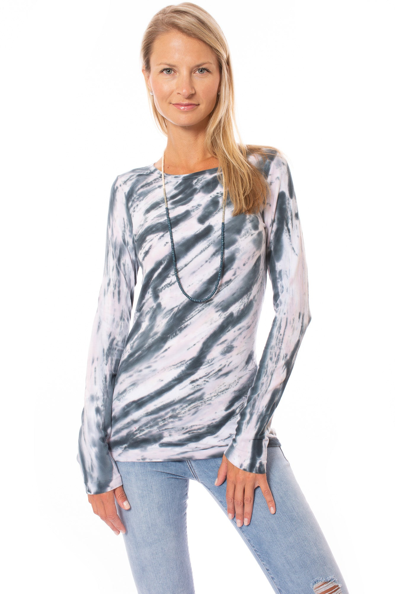 Hard Tail Forever - Long Skinny Sexy Tee (SL-69, Tie-Dye DSW1)
