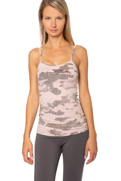 Hard Tail Forever - Long Spaghetti Tank (586-CAMO, Rose Camo)