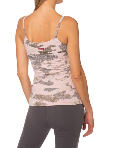 Long Spaghetti Tank (Style 586-CAMO, Rose Camo) by Hard Tail Forever
