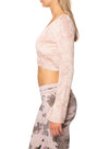Hard Tail Forever - Pane Velour Wrap Bell Sleeve (WOOD-08, Crushed Rose) alt view 1