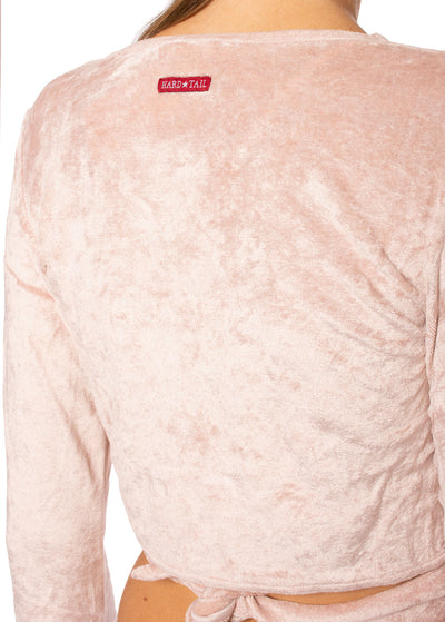 Hard Tail Forever - Pane Velour Wrap Bell Sleeve (WOOD-08, Crushed Rose) alt view 4