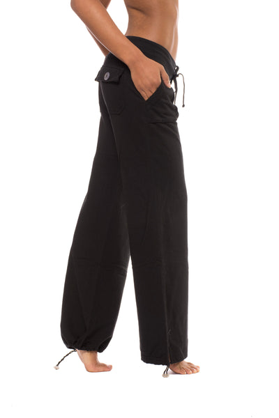 Slouchy Cargo Pants (Style SMF-14, Black) by Hard Tail Forever
