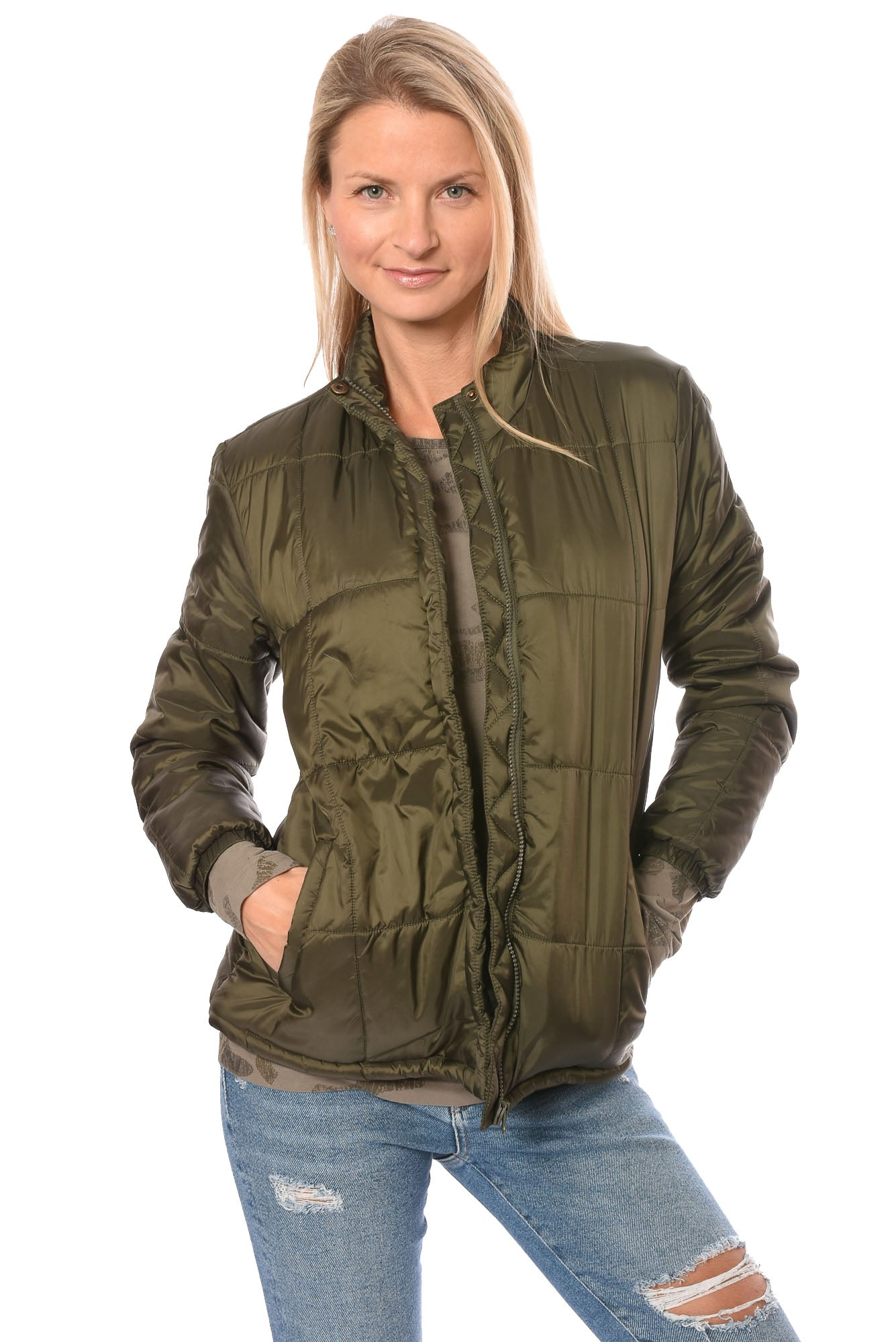 Velvet Heart Women's Tessie Convertible Travel Pillow Puffer Jacket (Style 3IJ-4530, Olive) by Velvet Heart