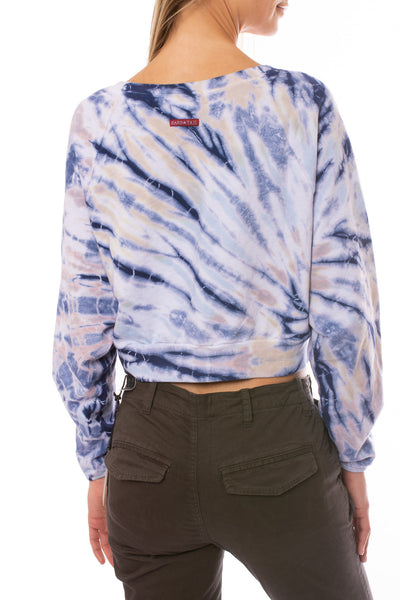 Hard Tail Forever - Crop Pullover (BC-18, Tie-Dye TTS4) alt view 2