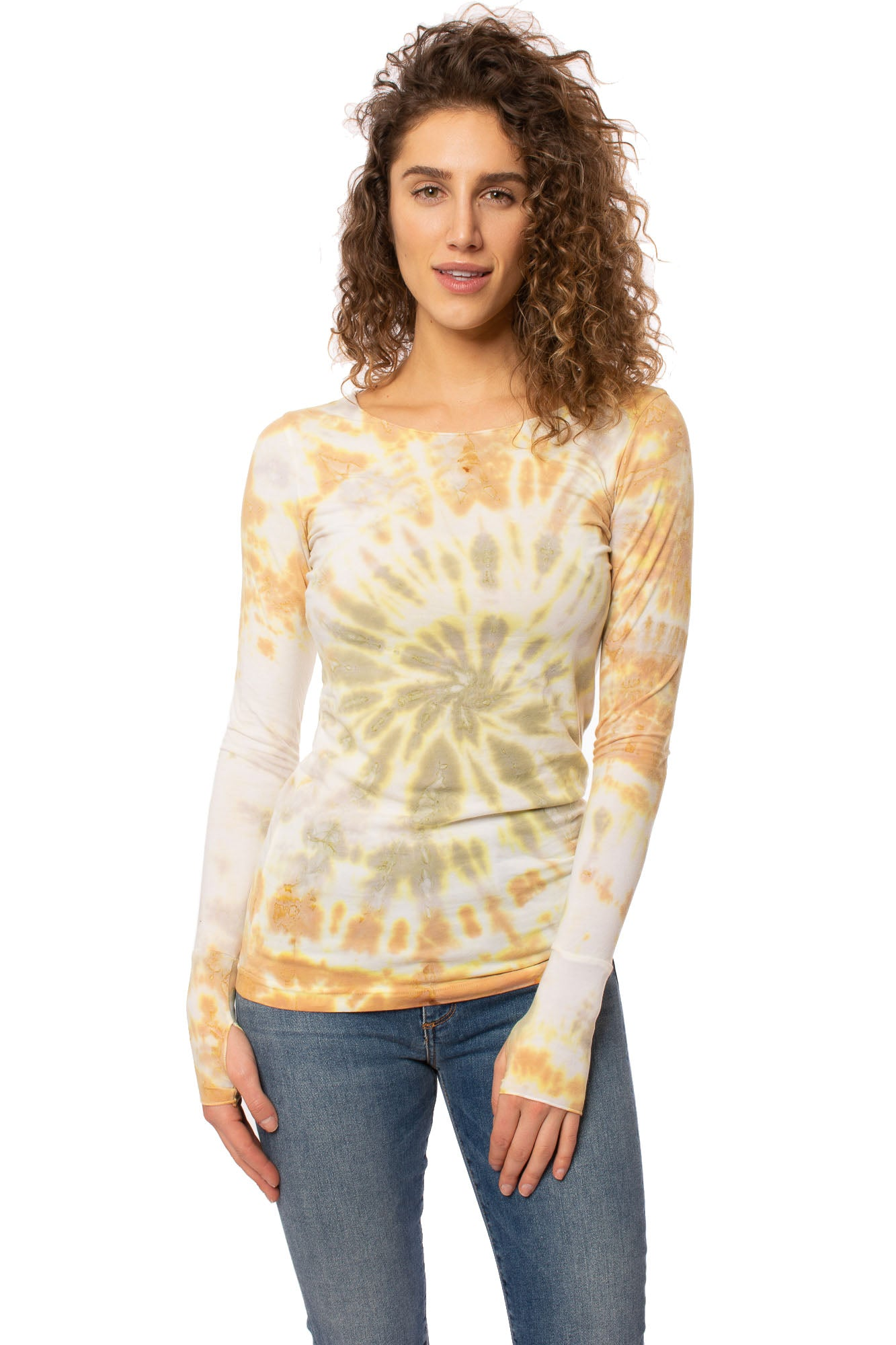 Hard Tail Forever - Cotton Lycra Long Sleeve W/Thumbhole (SL-143, Tie-Dye TCS2)