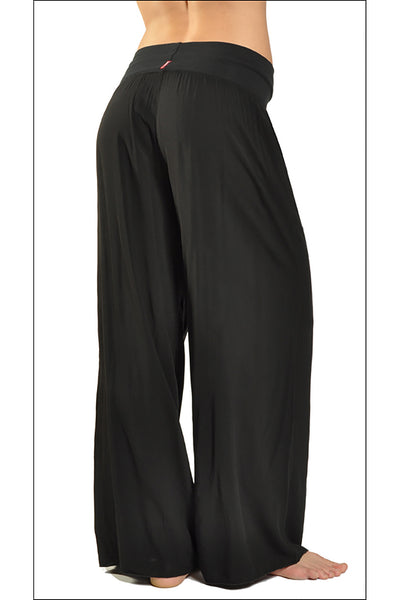 Flat Waist Wide Leg Pant (Style RV-03, Black) by Hard Tail Forever alt view 1