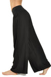 Flat Waist Wide Leg Pant (Style RV-03, Black) by Hard Tail Forever