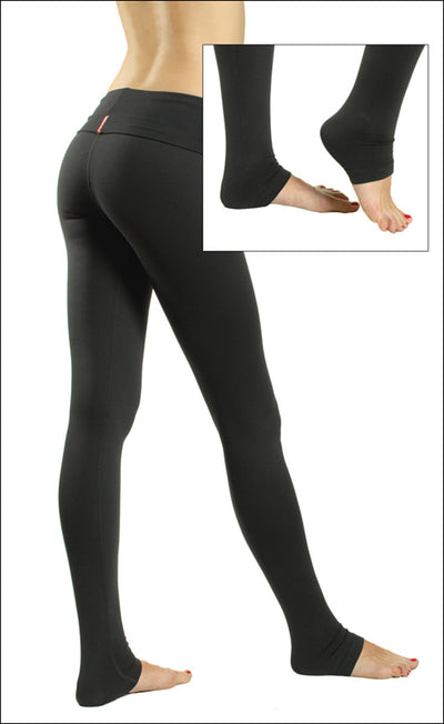 Suplex Roll Down Skinny Legging (Style SUP-06, Black) by Hard Tail Forever alt view 1