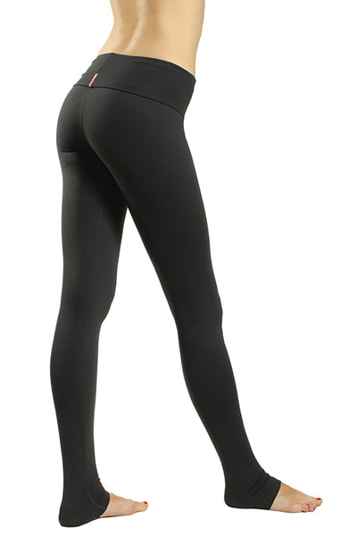 Suplex Roll Down Skinny Legging (Style SUP-06, Black) by Hard Tail Forever