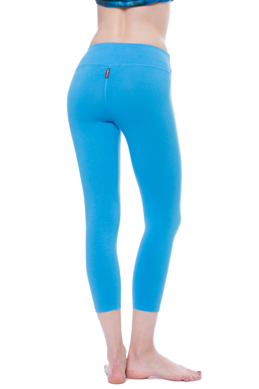 Flat Waist Capri (Style W-374, Bay Blue) by Hard Tail Forever