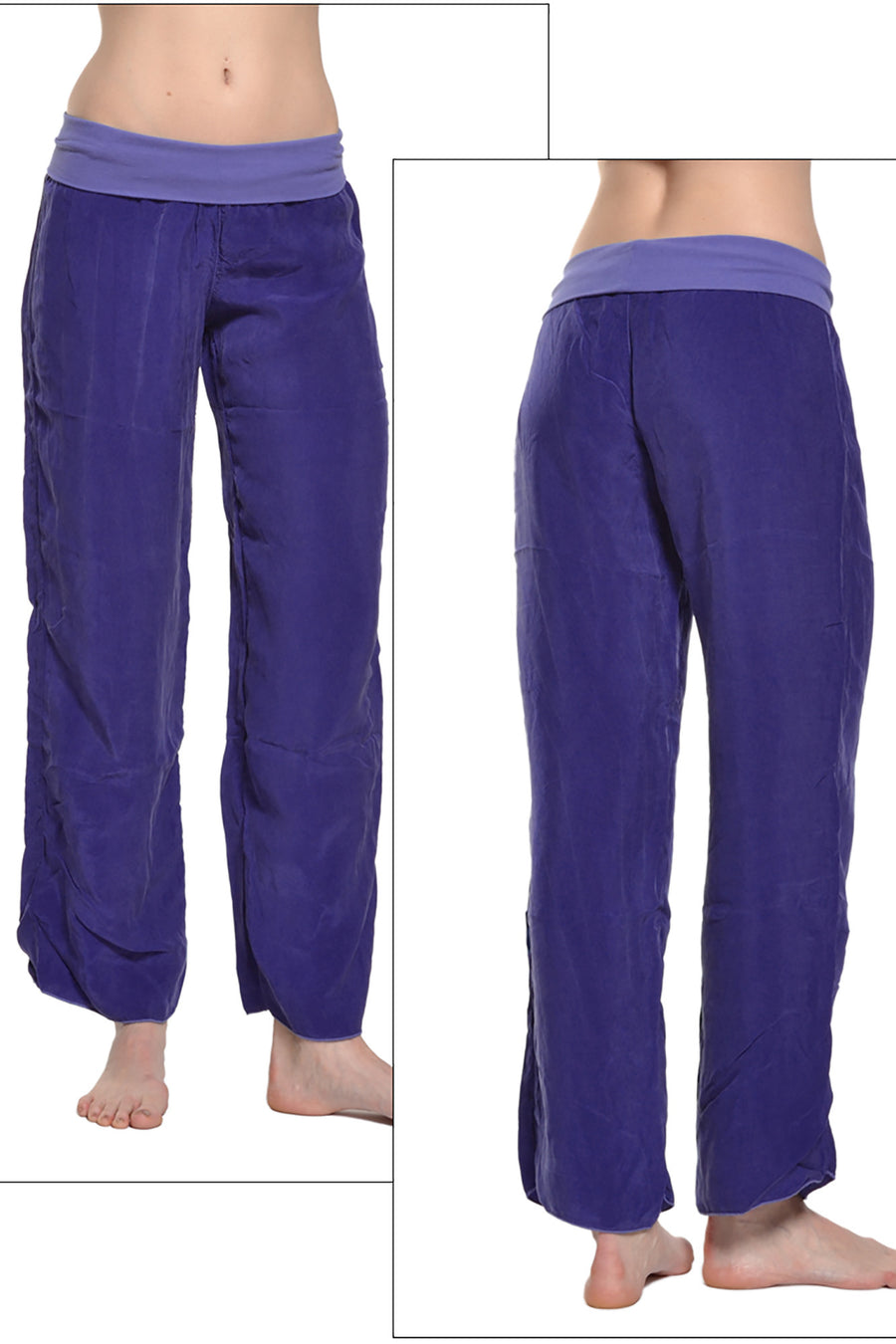 Flat Waist Pant (Style BEM-27, Wisteria) by Hard Tail Forever