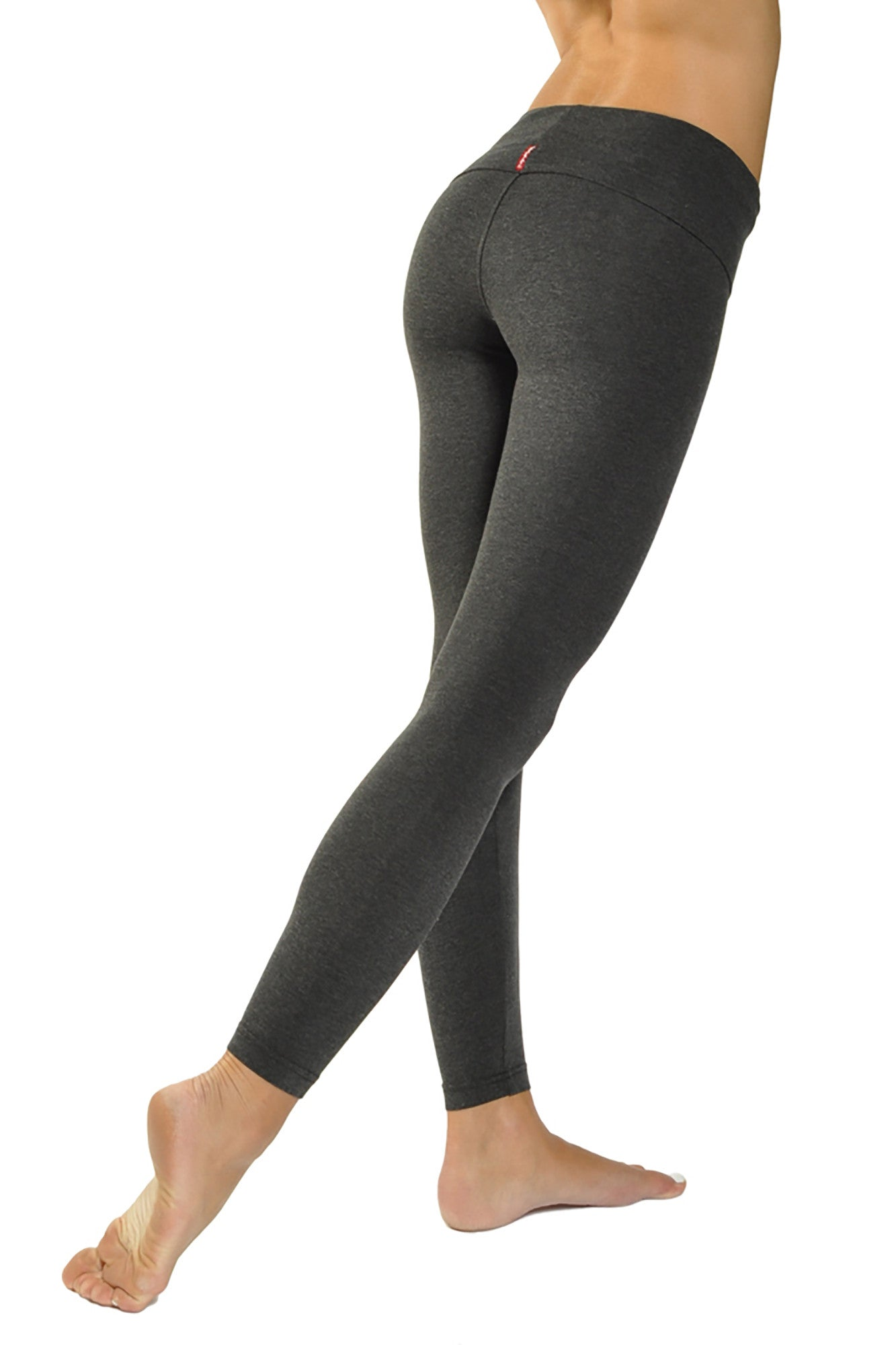 Contour Roll Down Ankle Legging (Style Dark Charcoal) by Hard Tail Forever