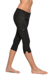 Roll Down Cargo Crop Legging (Style W-448, Black) by Hard Tail Forever