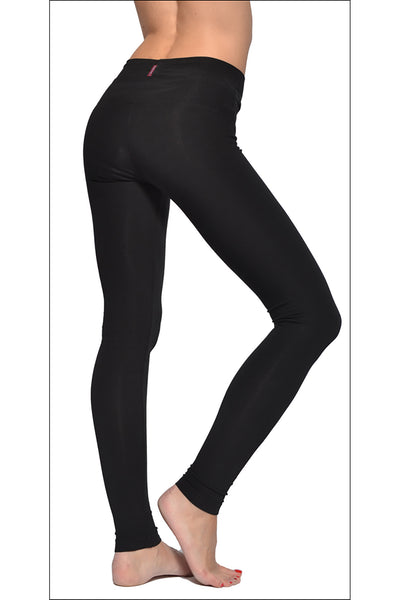 High Rise Ankle Legging (Style W-566, Black) by Hard Tail Forever alt view 1