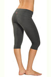 Roll Down Knee Legging (Style W-394, Dark Charcoal) by Hard Tail Forever
