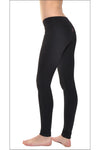 Supplex Flat Waist Ankle Legging (Style SUP-22, Black) by Hard Tail Forever alt view 1
