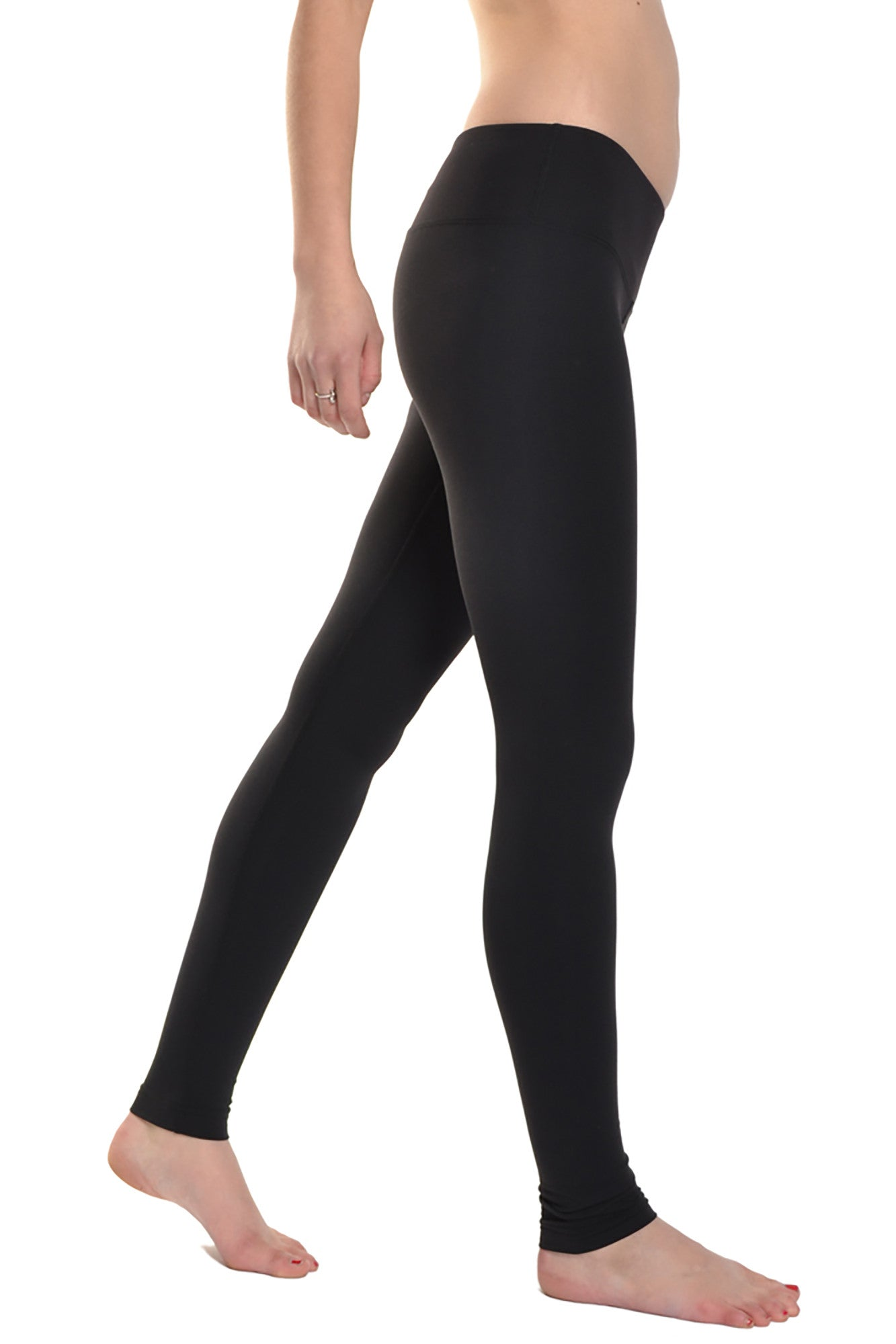 Supplex Flat Waist Ankle Legging (Style SUP-22, Black) by Hard Tail Forever