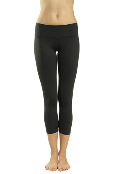 Supplex Flat Waist Capri (Style SUP-04, Black) by Hard Tail Forever