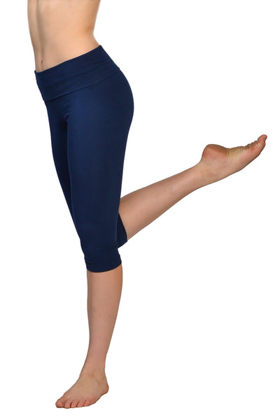 Roll Down Knee Legging (Style W-394, Past Midnight) by Hard Tail Forever