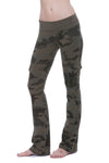 Hardtail Roll Down Cargo Boot Leg Pants (Style W-467, Olive Camo) by Hard Tail Forever