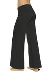 Wide Leg Roll Down Pants (Style W-326, Black) by Hard Tail Forever