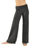 Wide Leg Roll Down Pants (Style W-326, Dark Charcoal) by Hard Tail Forever