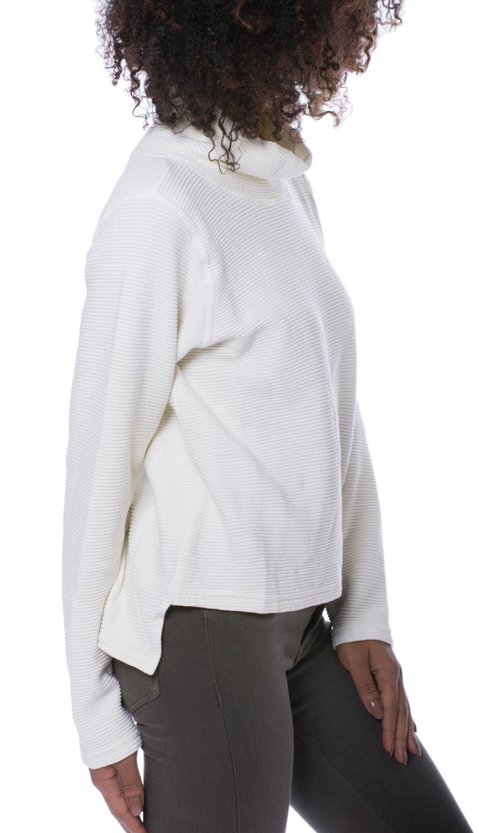Cown Neck Pullover (Style DL-14, Snow) by Hard Tail Forever