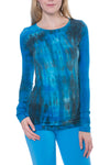 Supima/Lycra Long Sleeve Scoop Tee (Style SL-69, Tie-Dye BAM3) by Hard Tail Forever