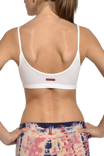 Cropped Bound Tank (Style 566, White) by Hard Tail Forever alt view 1