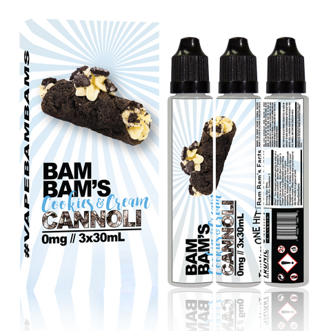 Bam Bam's Cookies & Cream Cannoli