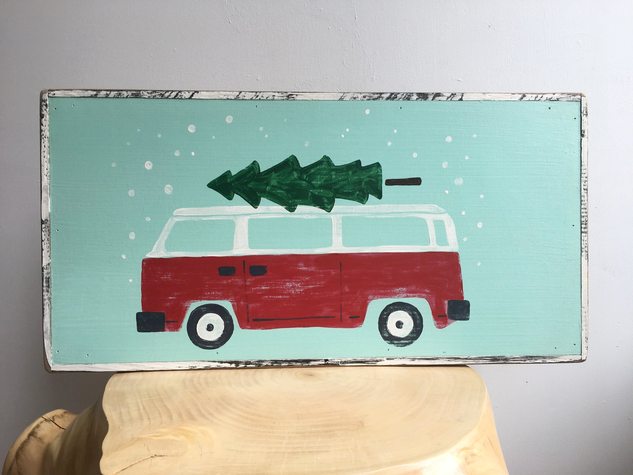 VW Bus with Tree