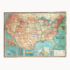 US Map (Traditional) Framed Poster