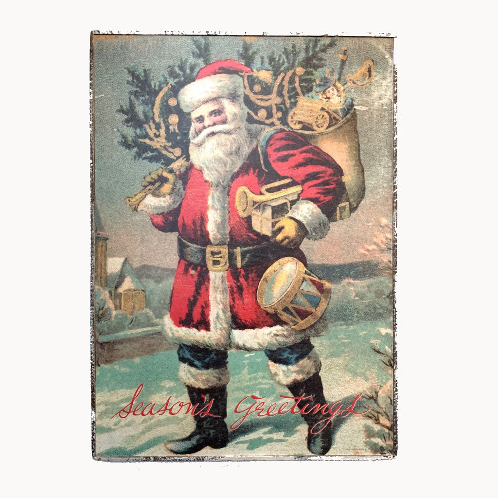 Santa Season's Greetings Framed Poster